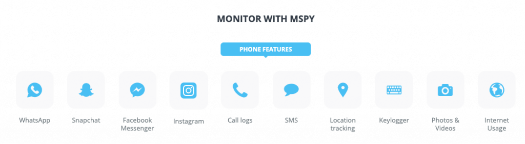 mSpy features