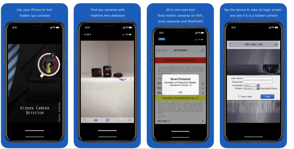 hidden camera detector smartphone app