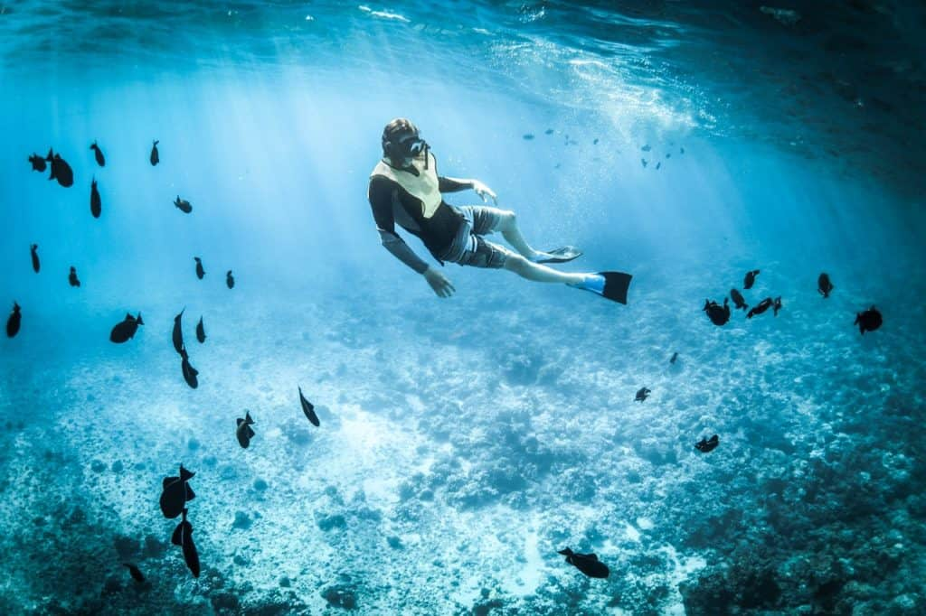 control anxiety while diving