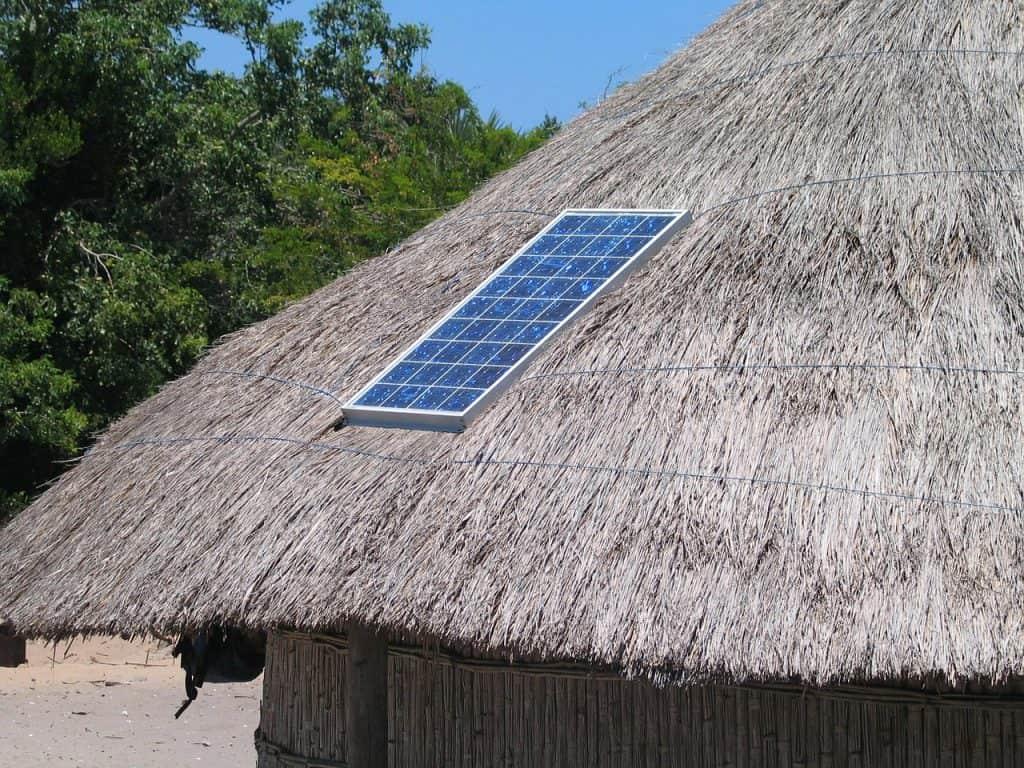 solar charging in wilderness